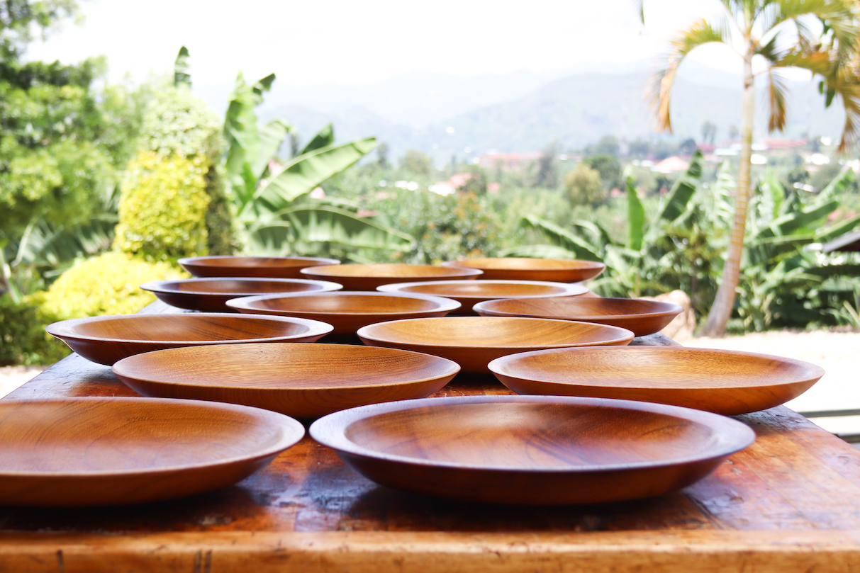 Turned Wooden Plates