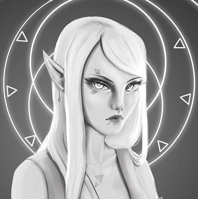 Everyone needs a white haired elf OC. Those are the rules I don't make it up 🧝♀️ . . . . . . . #ipadproart #procreateapp #procreateappart #ipadprocreate #applepencil #procreate #illust #digitalarts #digitaldoodle #digitalsketch #originalcharacter #elf #elven #elves #elvesofinstagram #elfart #ukart