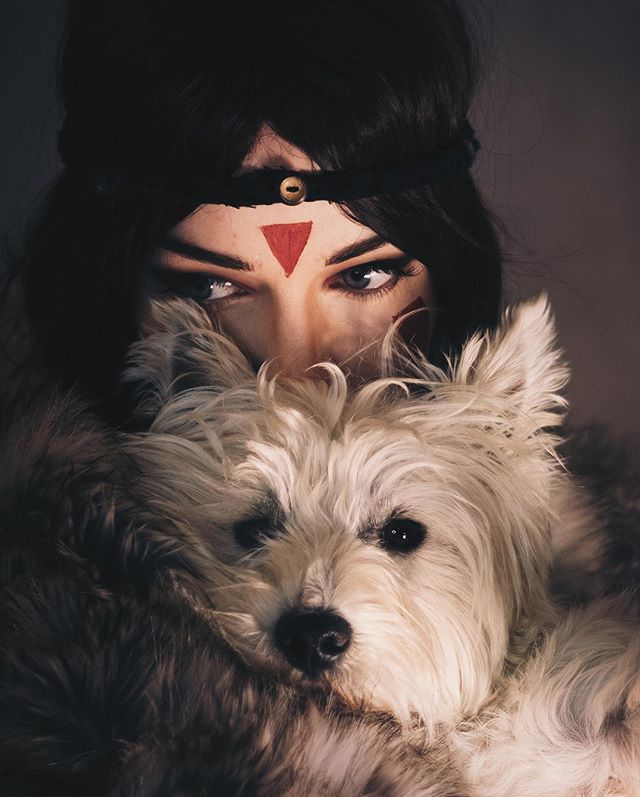 Don't talk to me or my mum ever again 🐺 😈 I'm dog sitting a Westie this week and I couldn't NOT use him for a photoshoot, so I decided on Princess Mononoke! Luckily the wig came just in time 🙌 I improvised the rest of the 'look' with random bit of fabric and a button hanging around! The next post should come on Saturday, I haven't edited it yet but I have big plans for it so keep your eyes peeled! Involves me painting on it 😁 . . . . . . . . #ukcosplay #ukcosplayer #cosplayphoto #cosplaylife #cosplayersofig #cosplaymakeup #cosplay #cosplayer #animecosplay  #cosplaywip #cosplayplans #cosplayprogress #cosplaywig #cosplans #makeuptest  #princessmononoke #princessmononokecosplay #mononoke #mononokehime #mononokecosplay #mononokehimecosplay #ghibli #studioghibli #ghiblicosplay #studioghiblicosplay