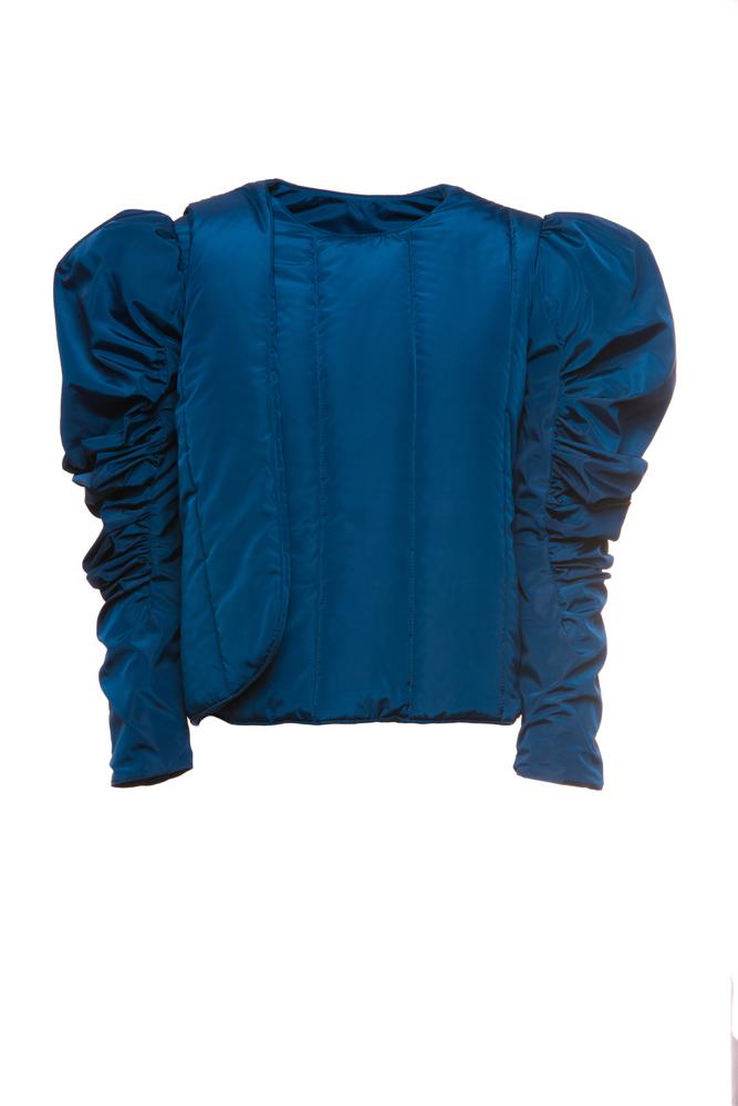 Nylon Taffeta Quilted Wrap Jacket