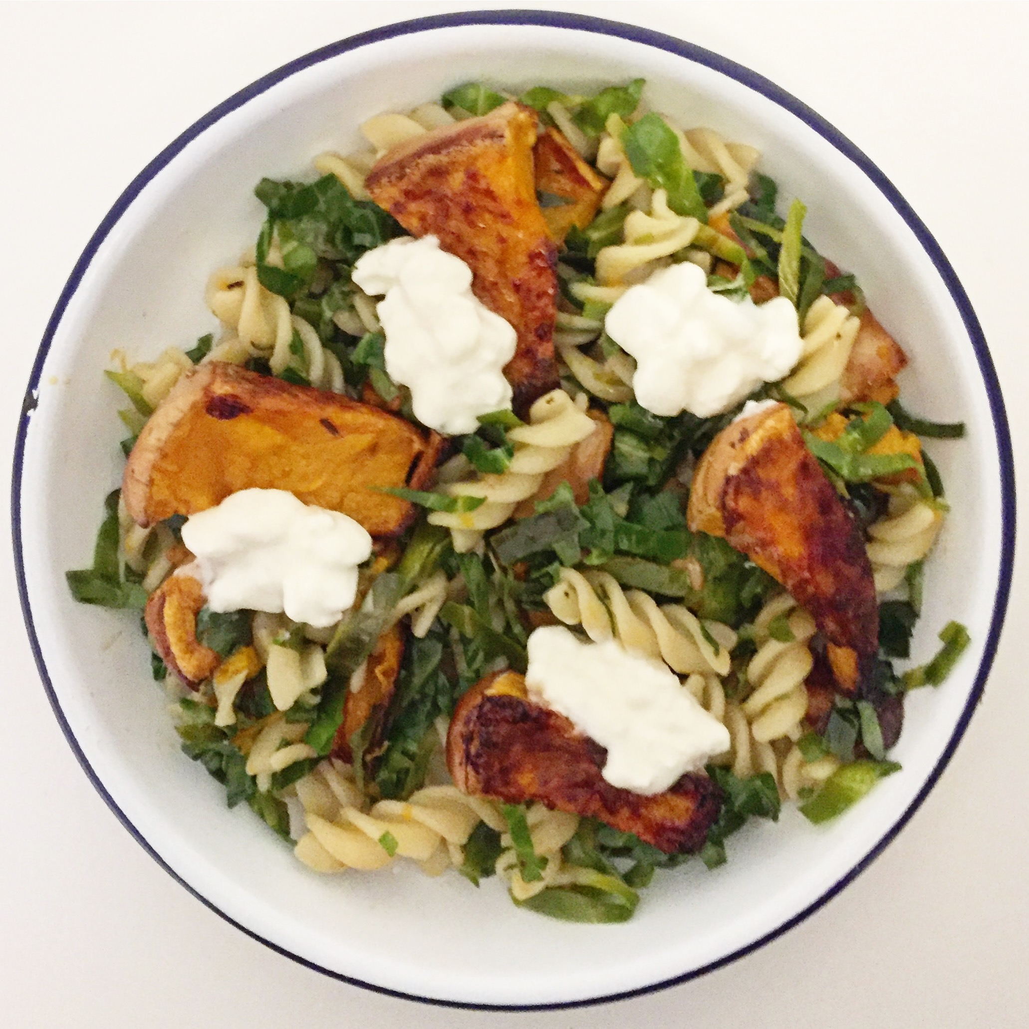 Roasted squash and greens pasta.JPG