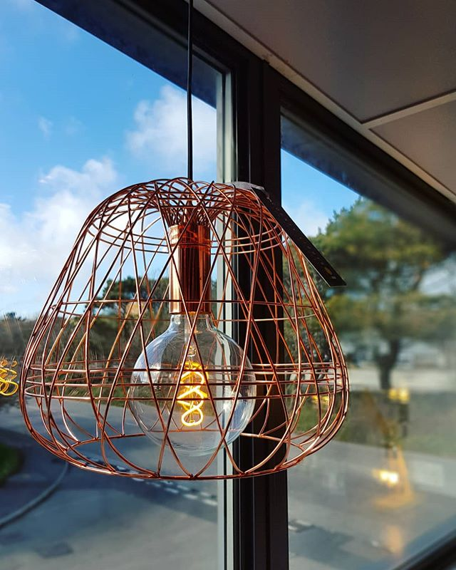 Look! Blue sky! ☀️☁️❤ #cornwall #countylights #lightinginspo #lighting #copper #copperlight #kernowfornia