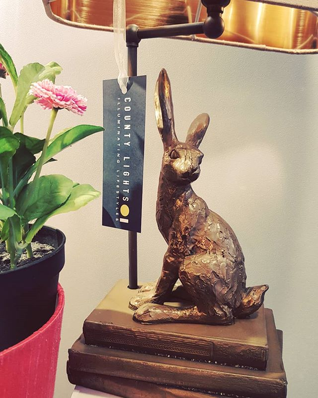 🌱🌼🐣🐰 Do the Easter holidays mean it's ok to start eating Easter eggs now? Asking for a friend. 🐰🐣🌼🌱 #countylights #countylightspz #davidhuntlighting #interiorinspo #lighting #tablelamp #easterbunny