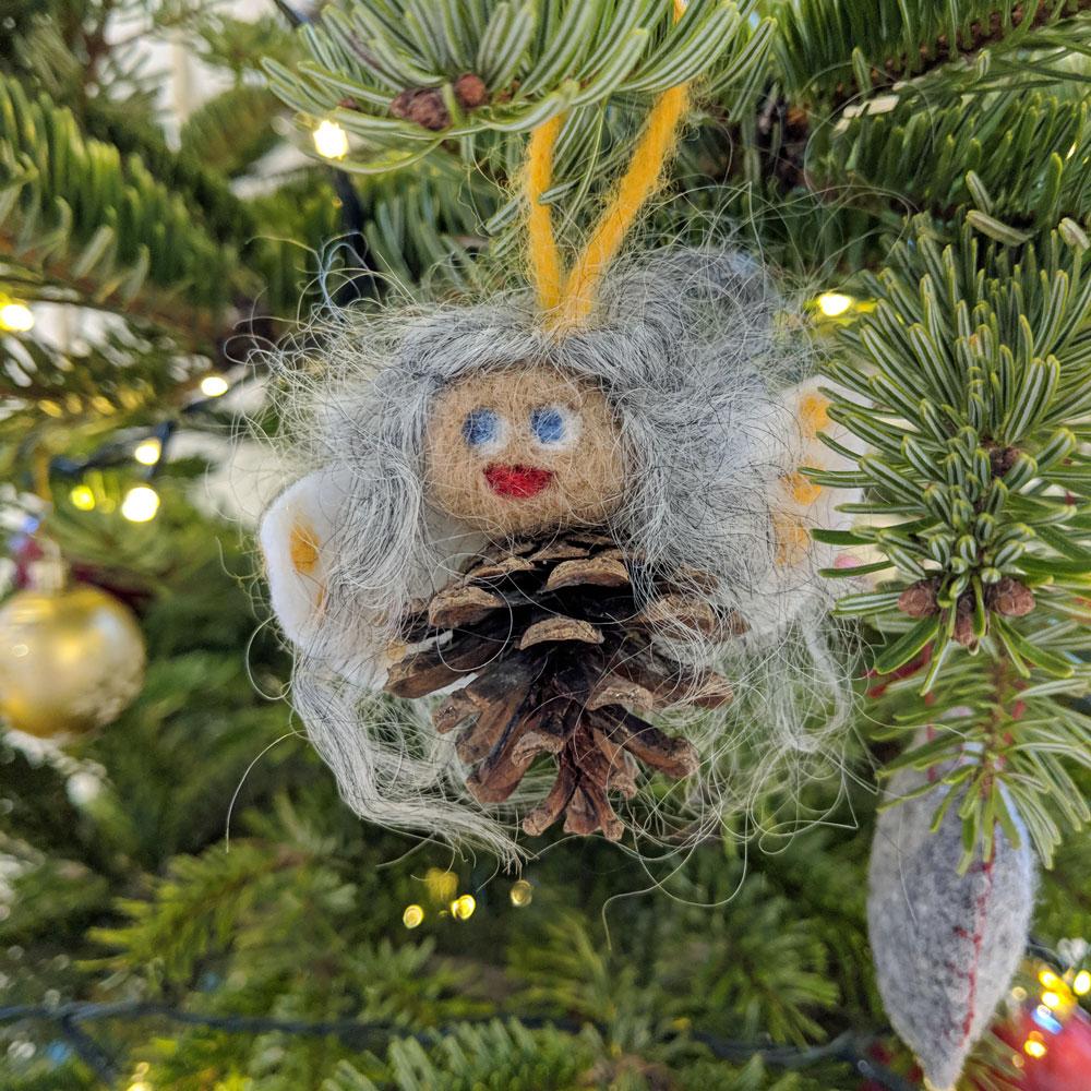Swedish pine cone angel by my mum