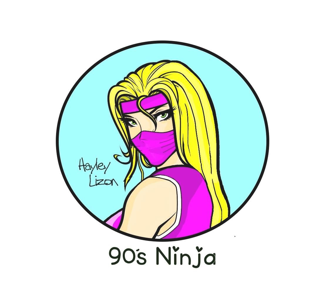 90's Ninja - Artist Hayley Lizon has always loved art. She pursued differnt art avenues throughout the years from photography to tattooing to most recently painting. Hayley began painting in 2012 and fell in love with the acrylic medium. Bold bright backgrounds with popular pop culture characters are what embodies a 90's Ninja painting.You can find her work on etsy, at local conventions and in bars around the city.IG: @90sninja