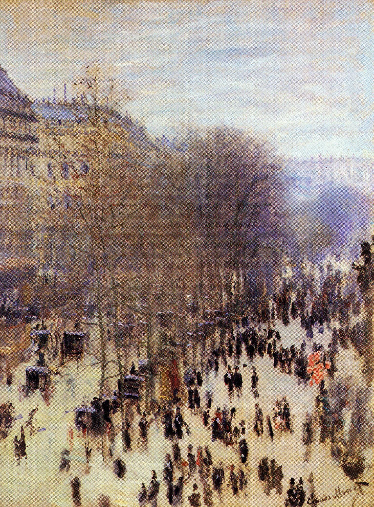 Claude Monet, Boulevard des Capucines, 1873-4