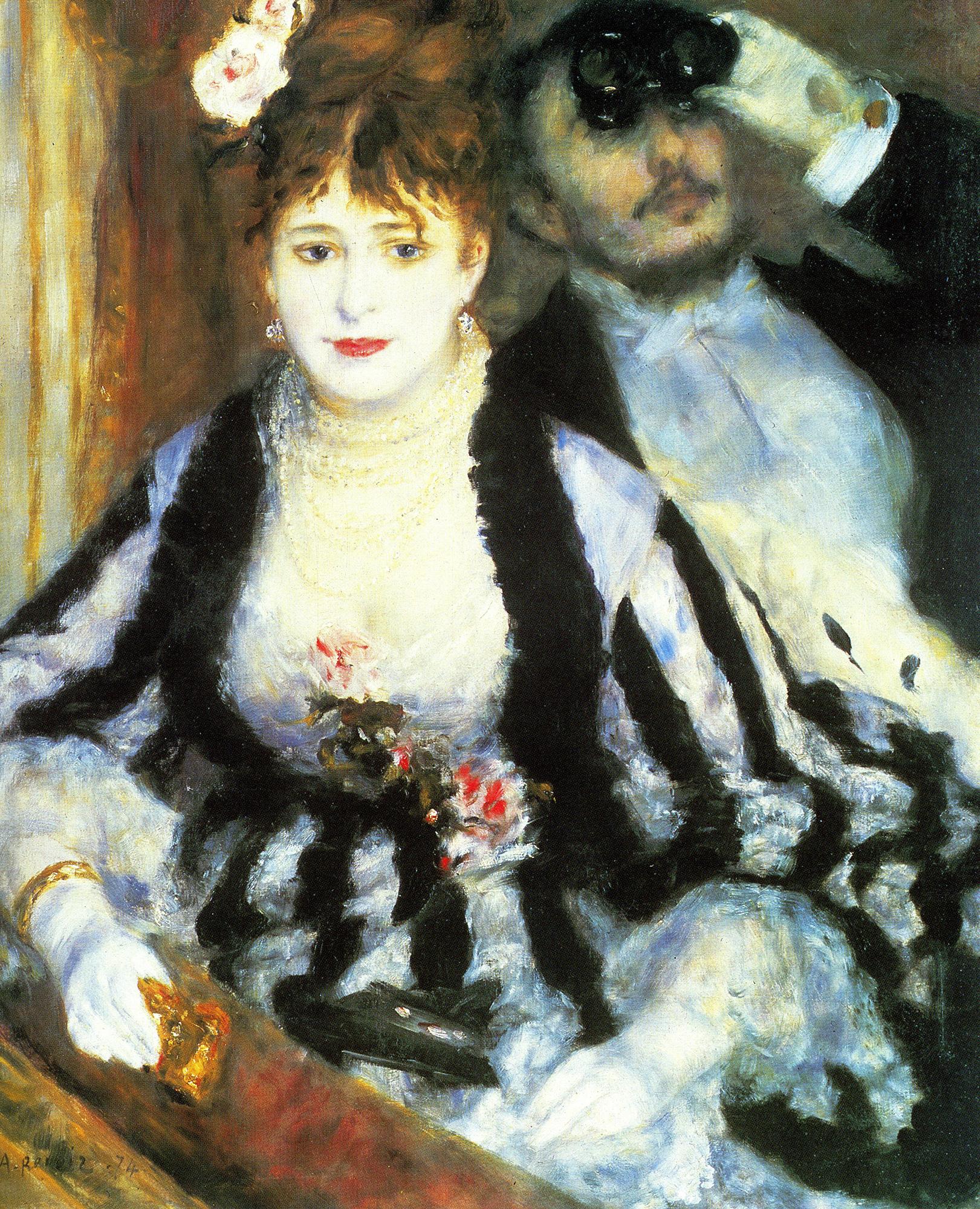 August Renoir, La Loge, 1874
