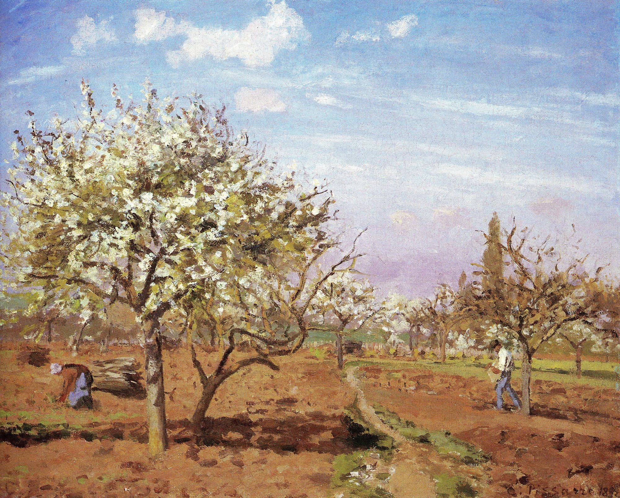 Camille Pissarro, Orchard in Bloom, Louveciennes, 1872