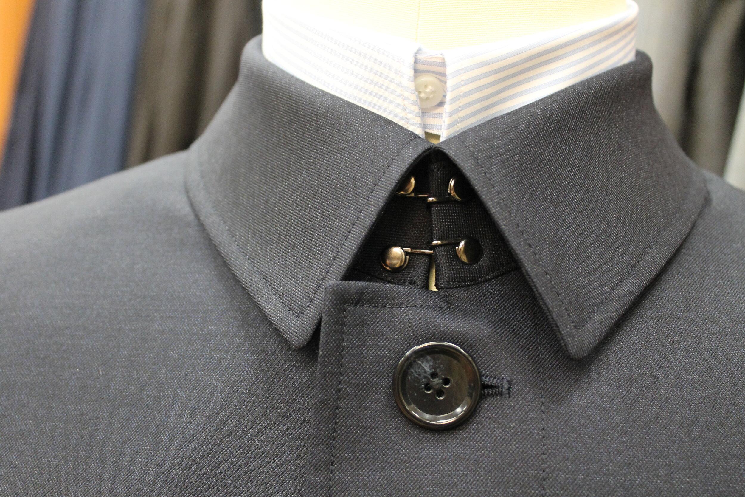 Rain Jacket: Collar