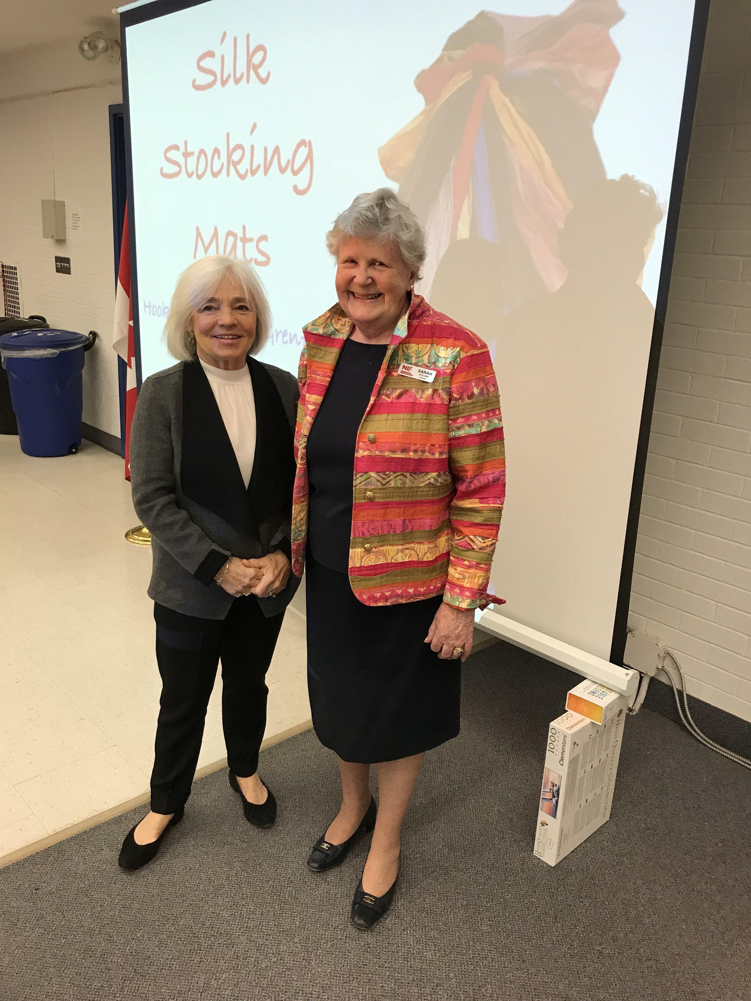 Speaker Paula Laverty and NLC Board Member Sarah Holland