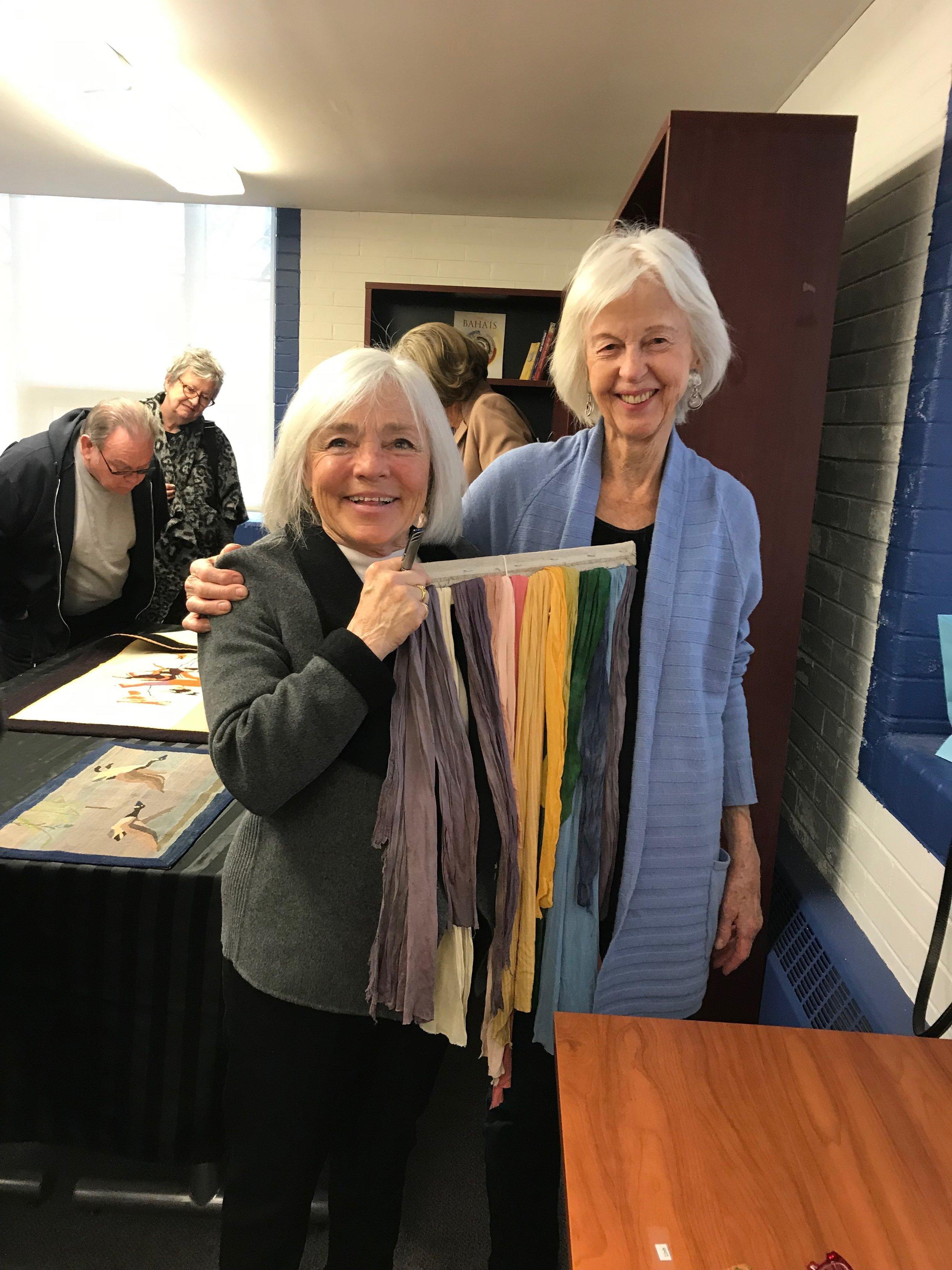 Speaker Paula Laverty and supporter Camilla Dalglish