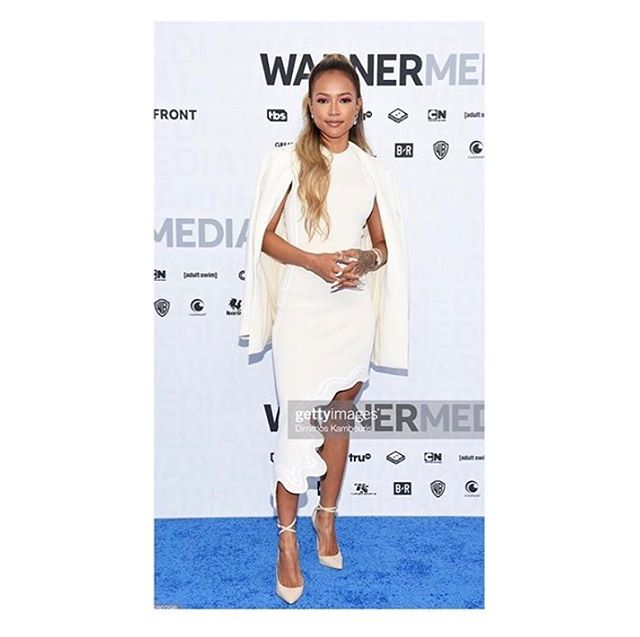 @karrueche last night wearing @sfizio_official at the #warnermediaupfront event 🖤