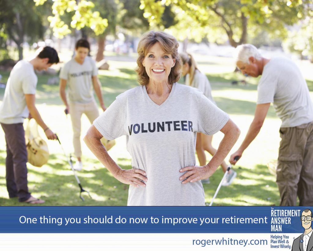More people miss the social aspect of work after they retire than anything else. Volunteering is one way to keep it going after you retire. Volunteer Group Clearing Litter In Park Wearing Voulnteer T Shirt Smiling