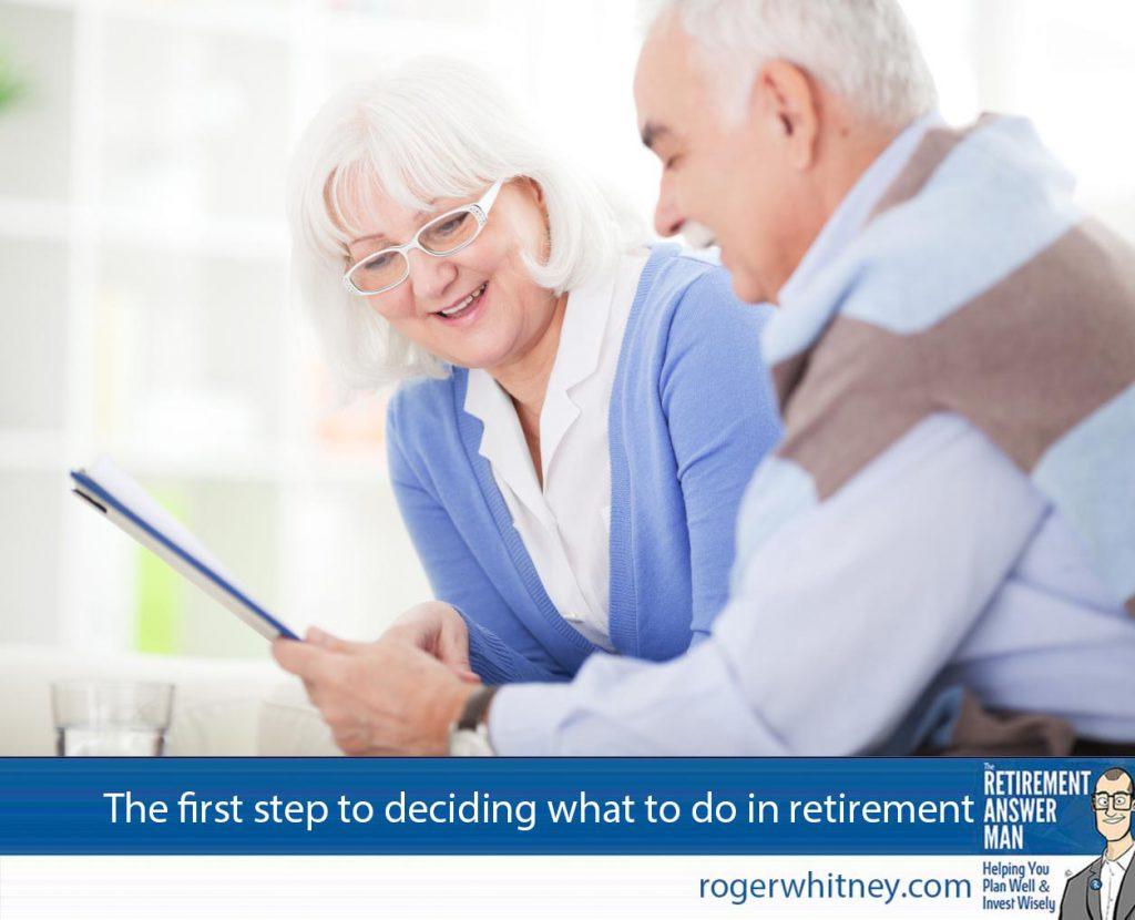 A senior couple planning for retirement by learning their values. A senior couple planning for retirement by learning their values