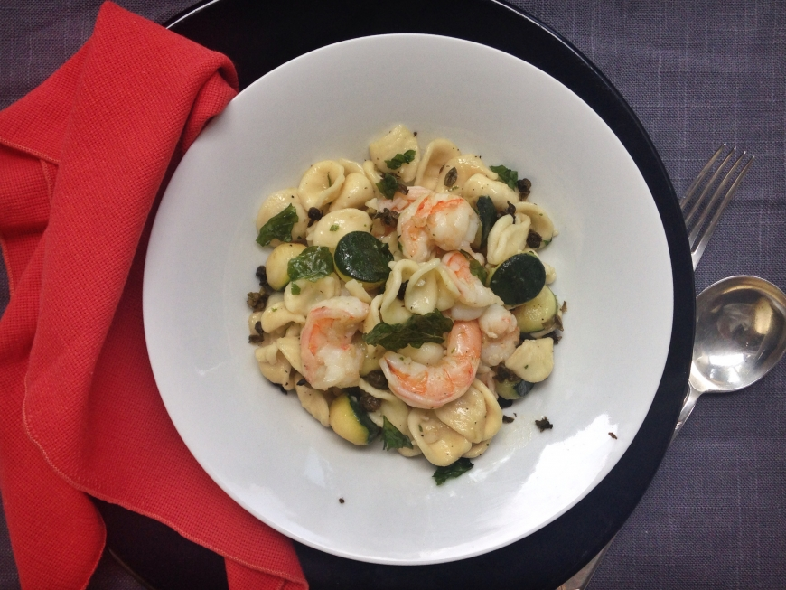 Pasta with Shrimp, Zucchini and Fried Capers.jpg