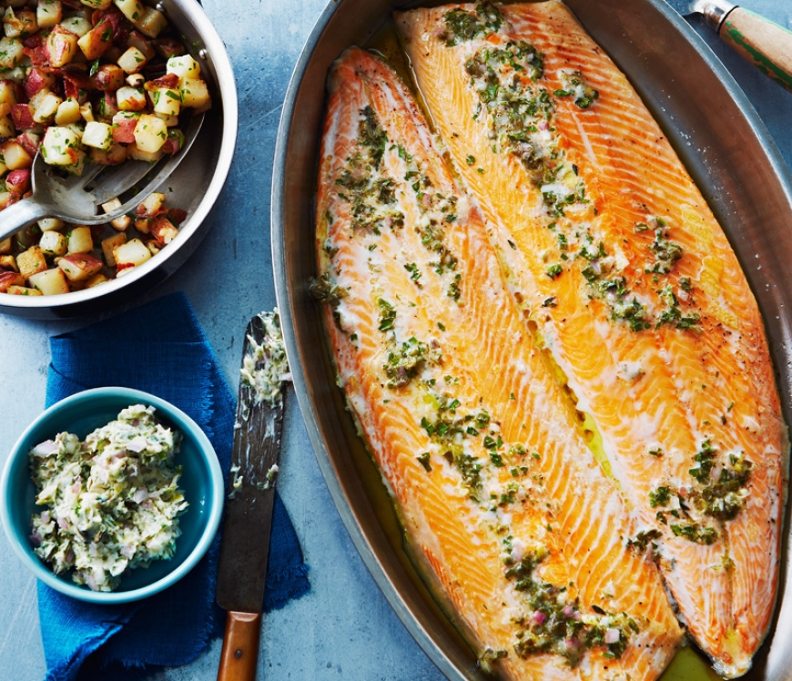 Slow-baked Arctic char with crisp potatoes.jpg