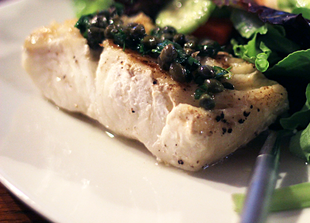 Mediterranean sea bass with brown butter caper sauce.jpg
