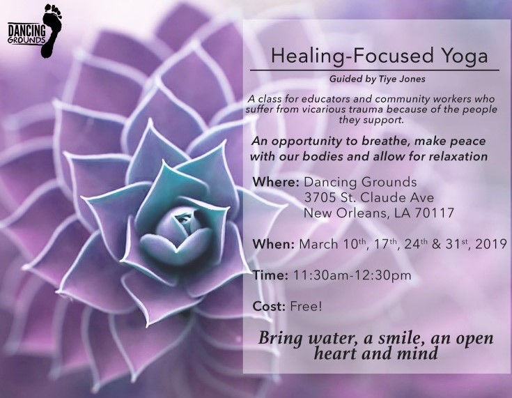 Healing-Focused Yoga guided by    Tiye Jones    or on    FB