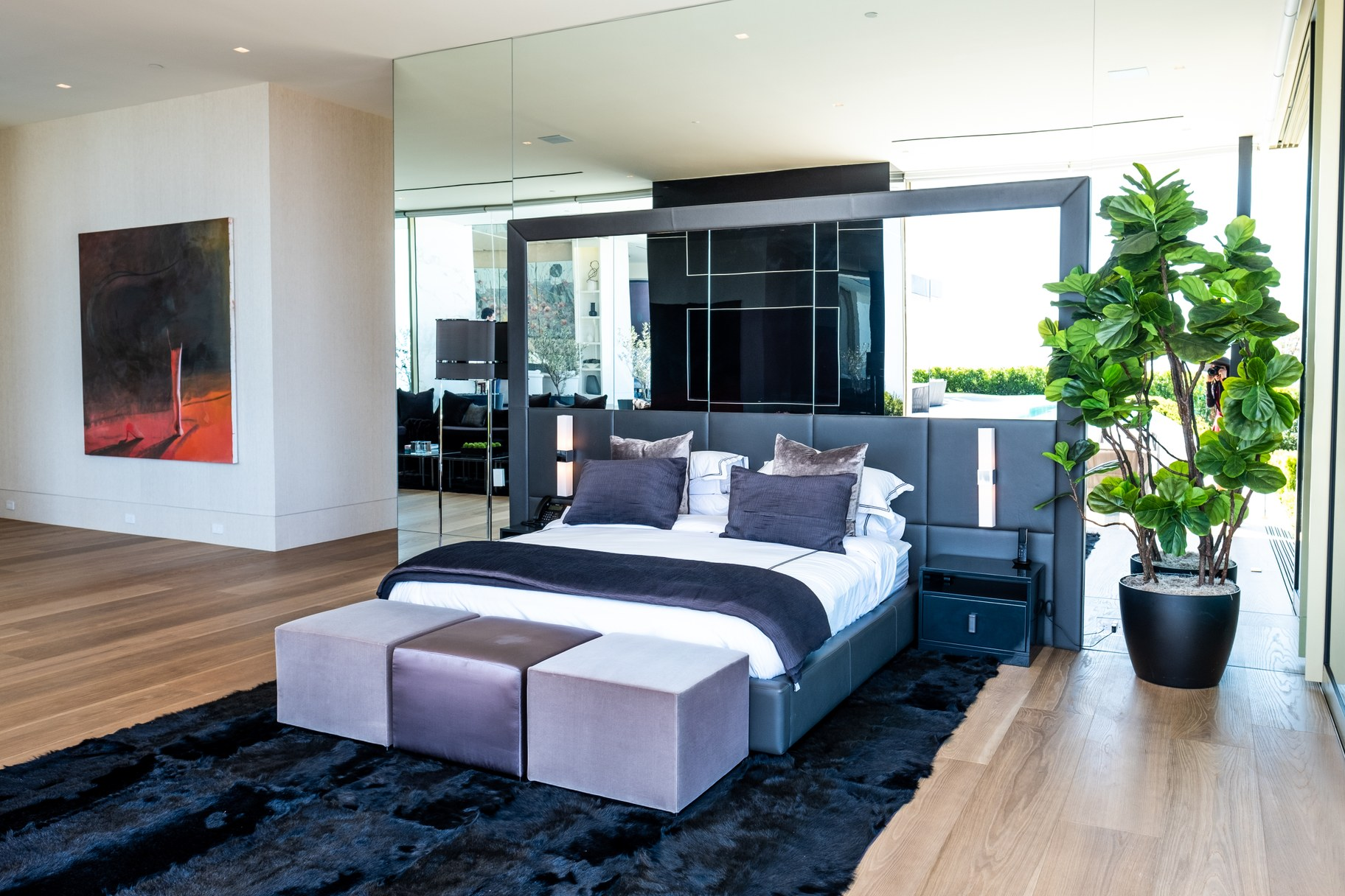One of the many bedrooms at Opus.