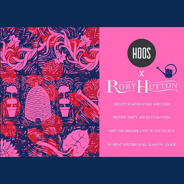 """Who's all headed to the @hoos_glasgow / @roryhuttonldn preview party on 4th July? Don't forget to RSVP via email to hello(at)hoosglasgow.co.uk.⠀⠀⠀⠀⠀⠀⠀⠀⠀ ________________________________________________________ ⠀⠀⠀⠀⠀⠀⠀⠀⠀ """"Hoos invites you to the preview party of Rory Hutton.⠀⠀⠀⠀⠀⠀⠀⠀⠀ Join us to celebrate his latest collection with a glass of fizz.⠀⠀⠀⠀⠀⠀⠀⠀⠀ 5.30 - 7.30 p.m⠀⠀⠀⠀⠀⠀⠀⠀⠀ Please click RVSP and confirm via email."""" ________________________________________________________ ⠀⠀⠀⠀⠀⠀⠀⠀⠀ #thecliquelifestyle #theclique #onlineresource #interiorscommunity #roryhutton #hoosglasgow #previewparty #textiledesigner"""