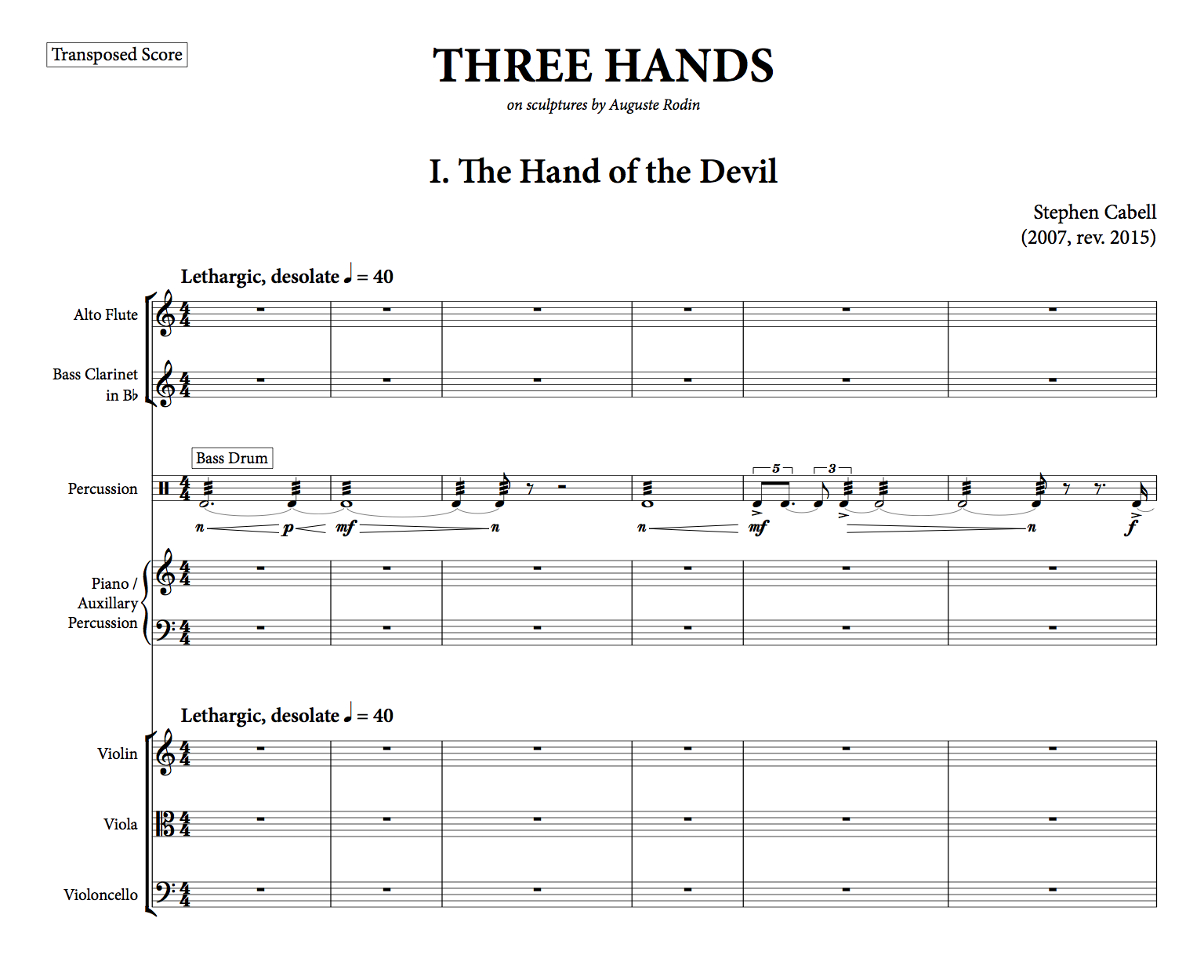 THREE HANDS full score: page 1