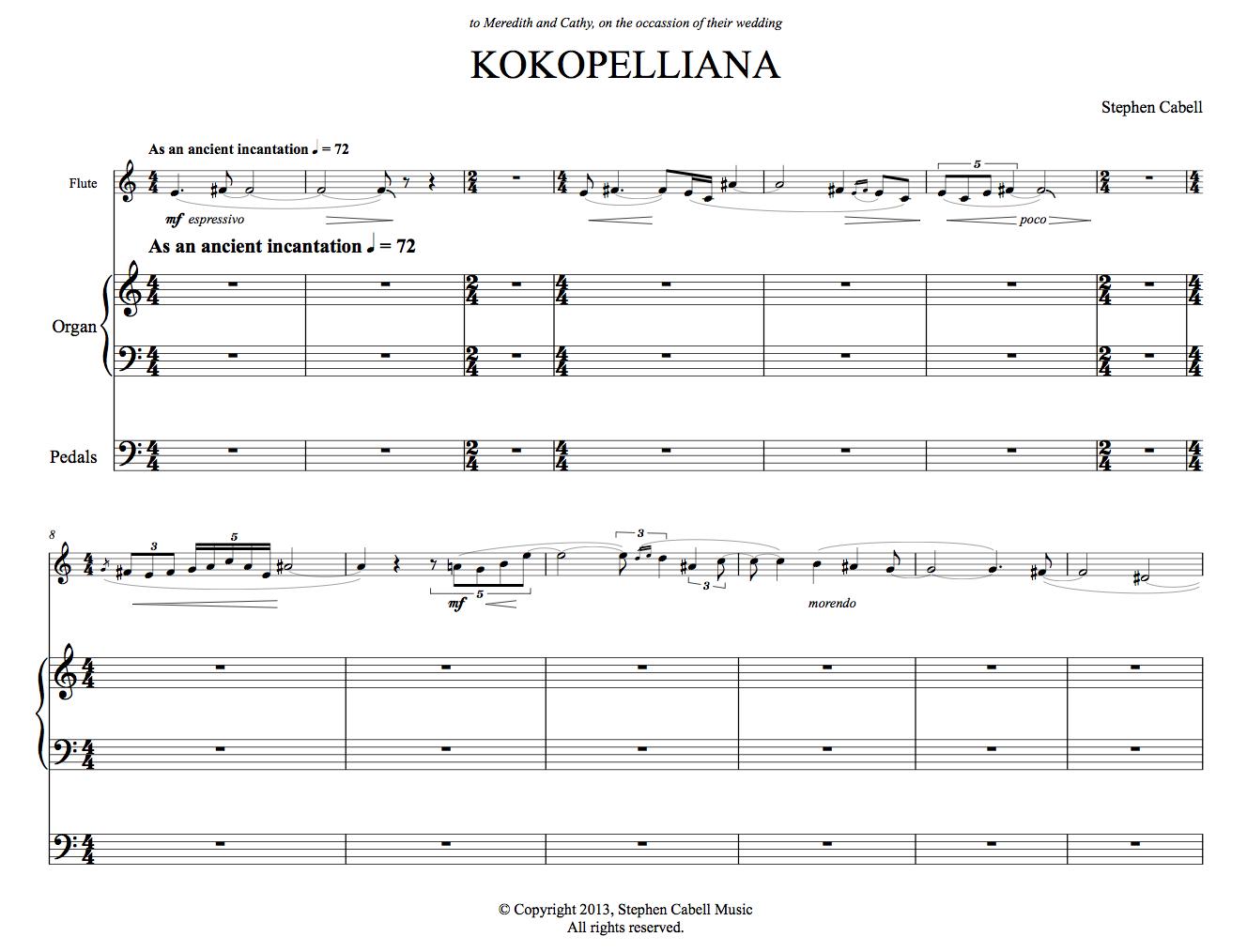 KOKOPELLIANA full score: page 1