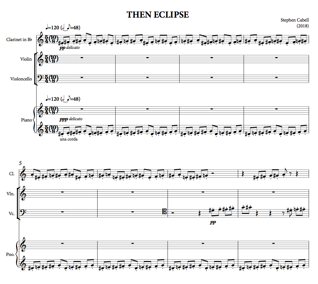 THEN ECLIPSE full score: page 1