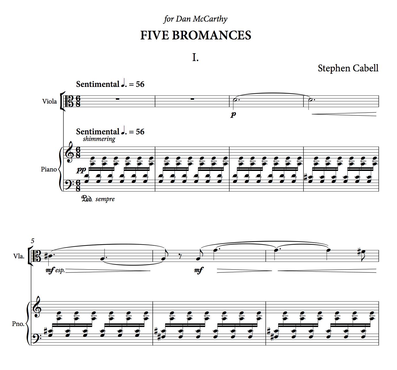 FIVE BROMANCES full score: page 1