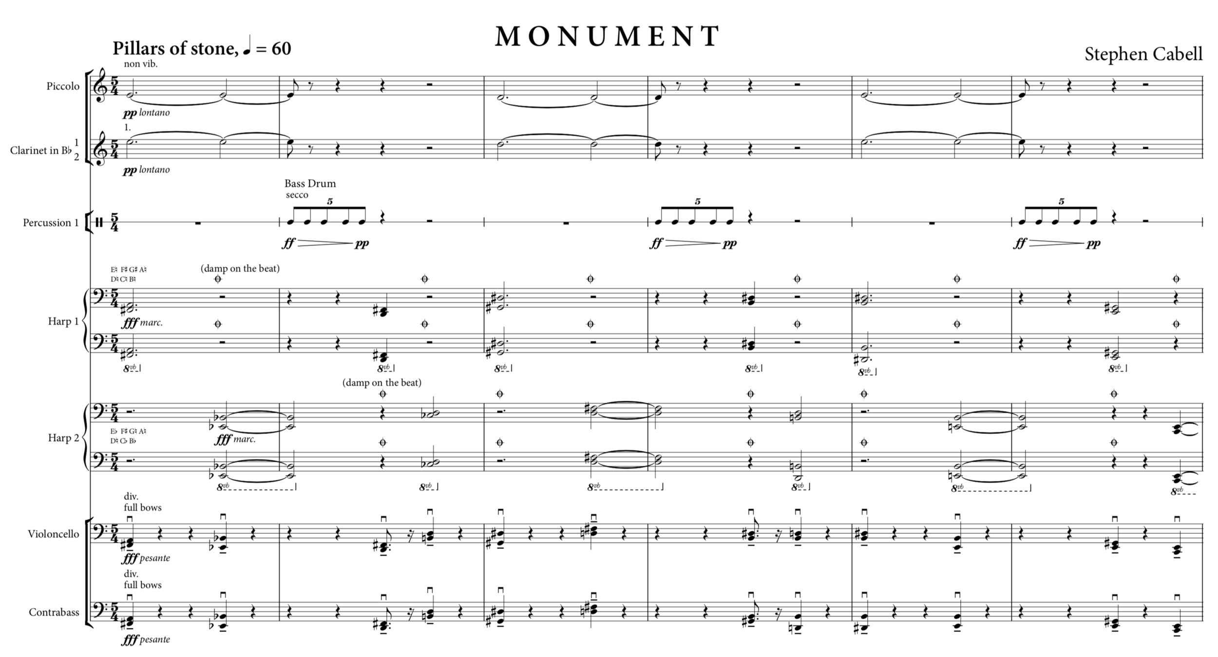 MONUMENT optimized score: page 1
