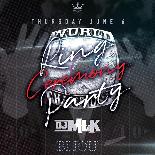 Thursday night with the champs and @troubleman31 official Dj @djmlk