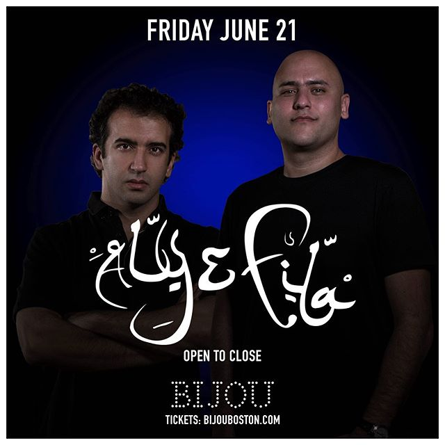 Changing the vibe this Friday with @alyandfila #trance Tickets available www.bijouboston.com