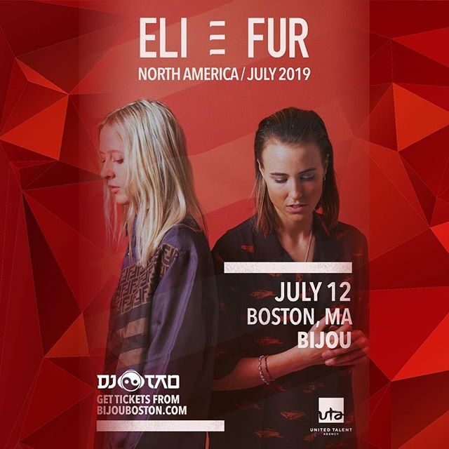 Very excited to have @eliandfur back on the decks. Tickets available www.bijouboston.com #anjunadeep #anjunabeats #deephouse #techjouse