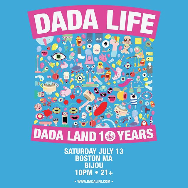 Tonight we celebrate 10 Years of @dadalife tickets available www.bijouboston.com