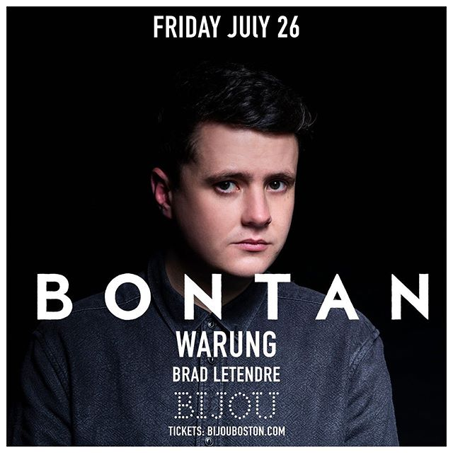 @bontanbeats makes his Boston debut this Friday. Bijouboston.com for tickets