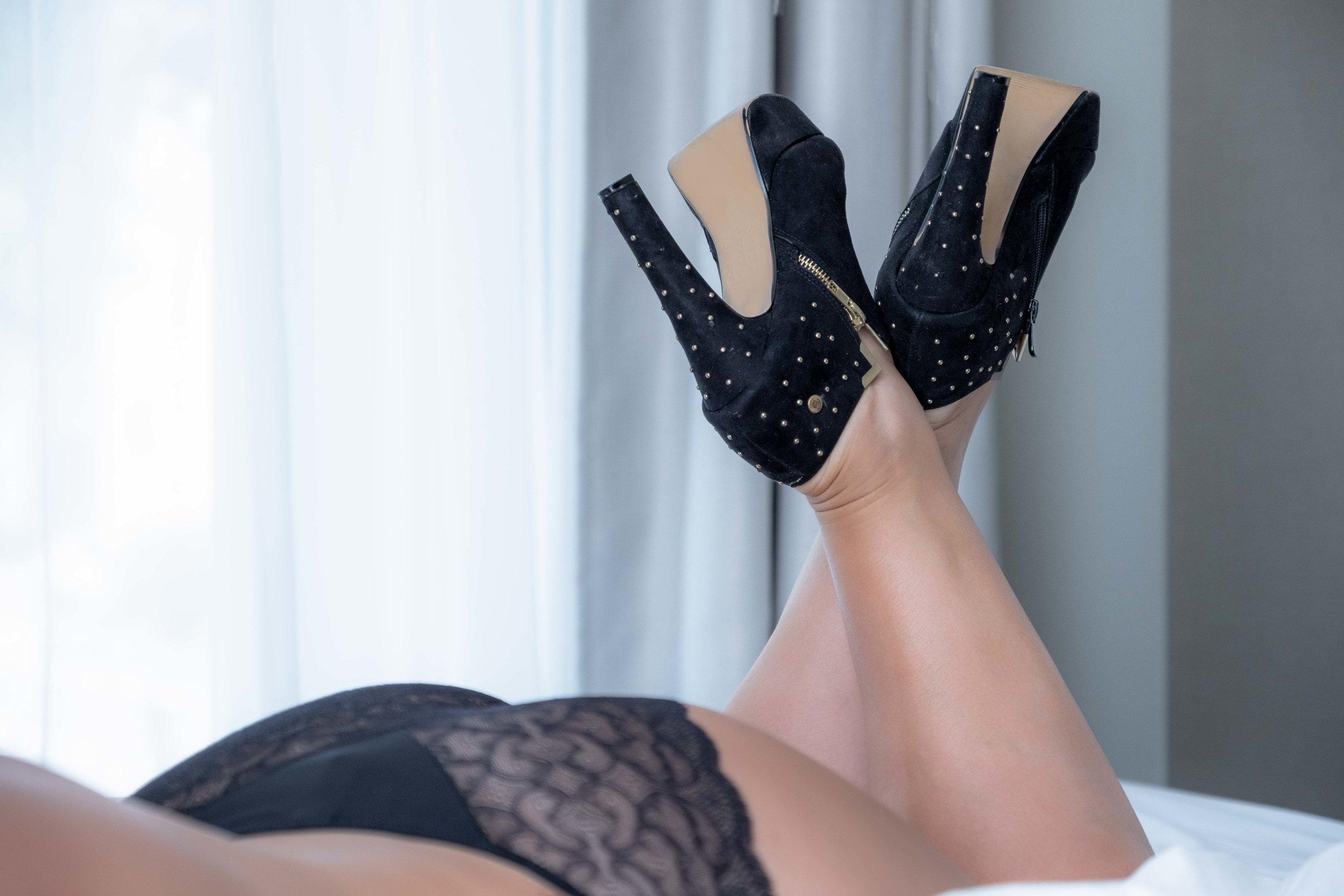 hoge hakken boudoir fotoshoot