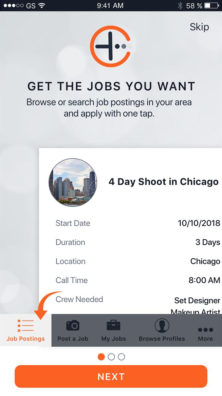 App Screenshot: Job POstings