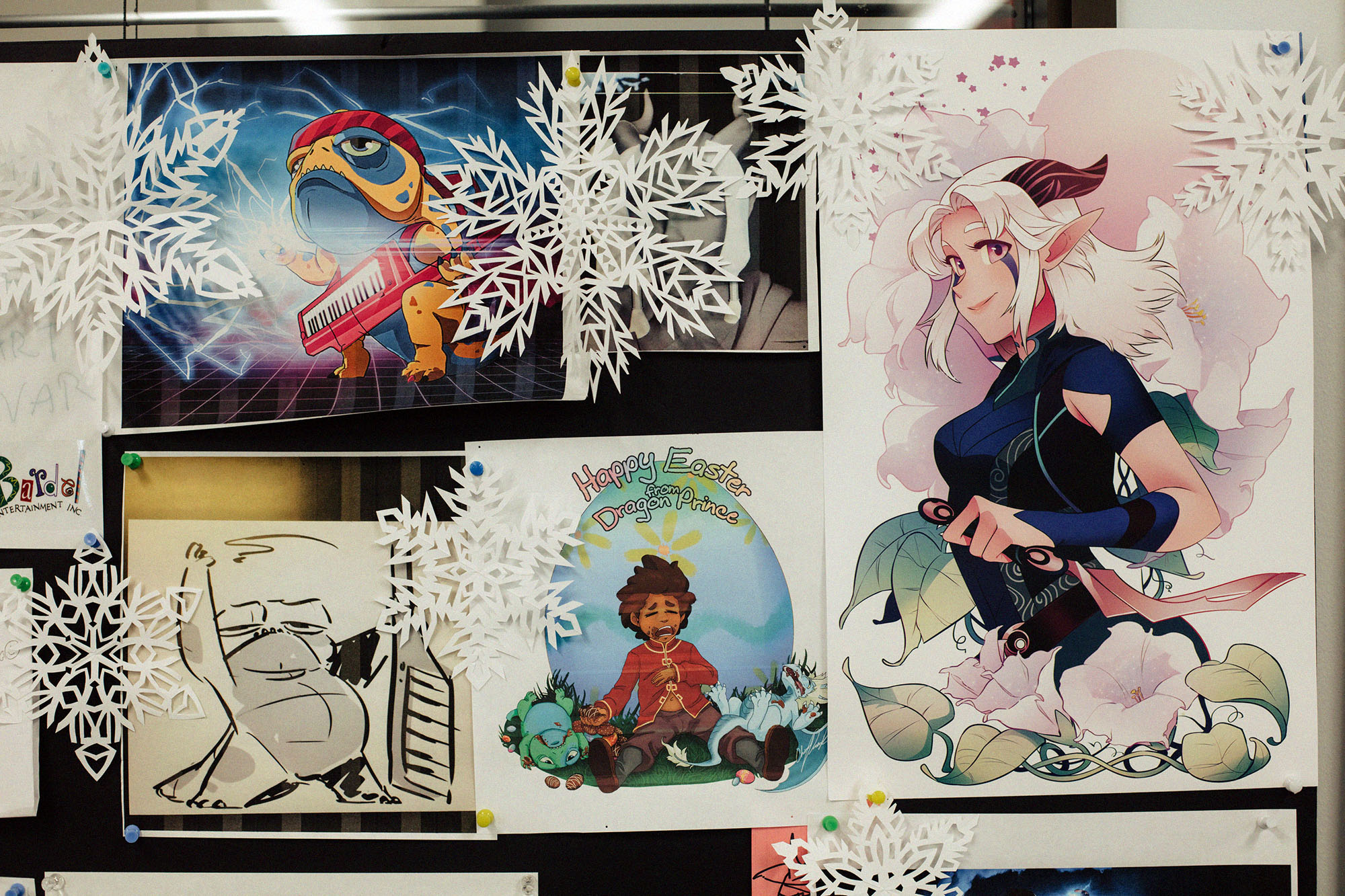 Posters and goofy illustrations from both fans and Wonderstorm artists. Photo by Rozette Rago.