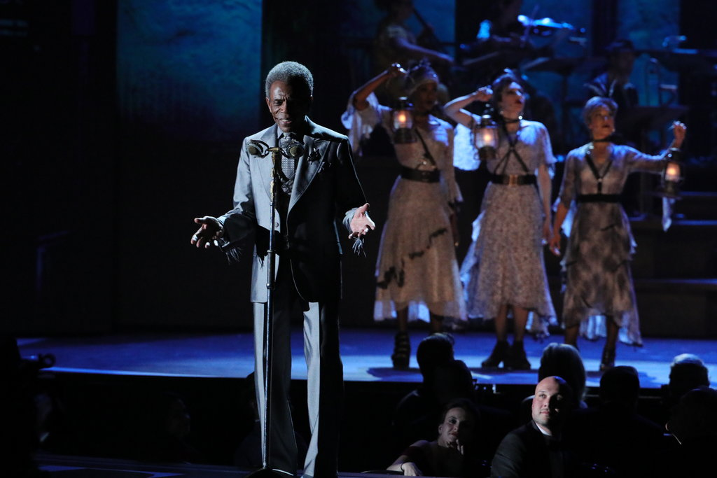 """André De Shields performing a number from """"Hadestown,"""" the night's big winner.  Photo Credit: Sara Krulwich"""