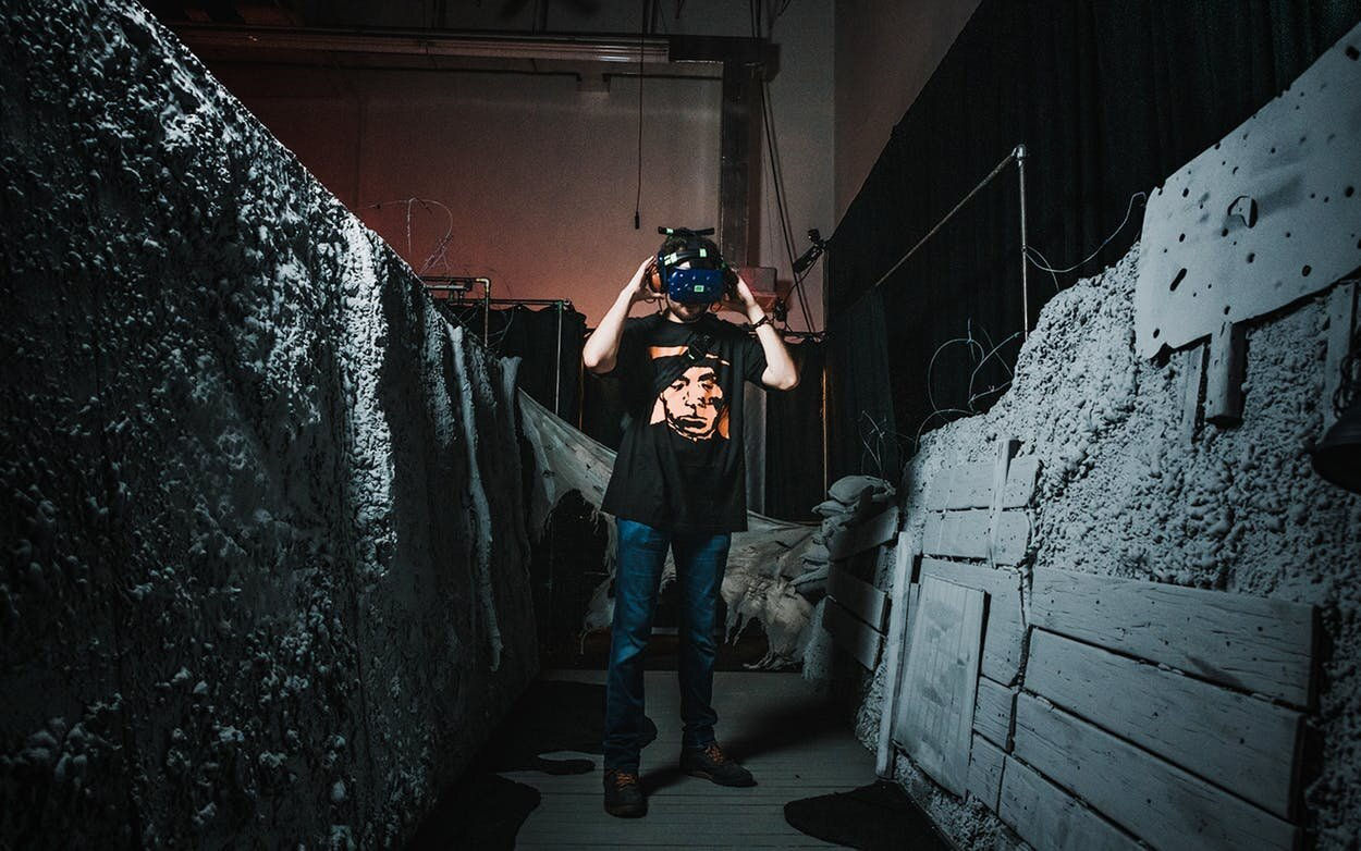 """""""War Remains"""" enables viewers to take an interactive virtual reality trip into the trenches of a World War I battlefield. Photo by MWM Interactive."""