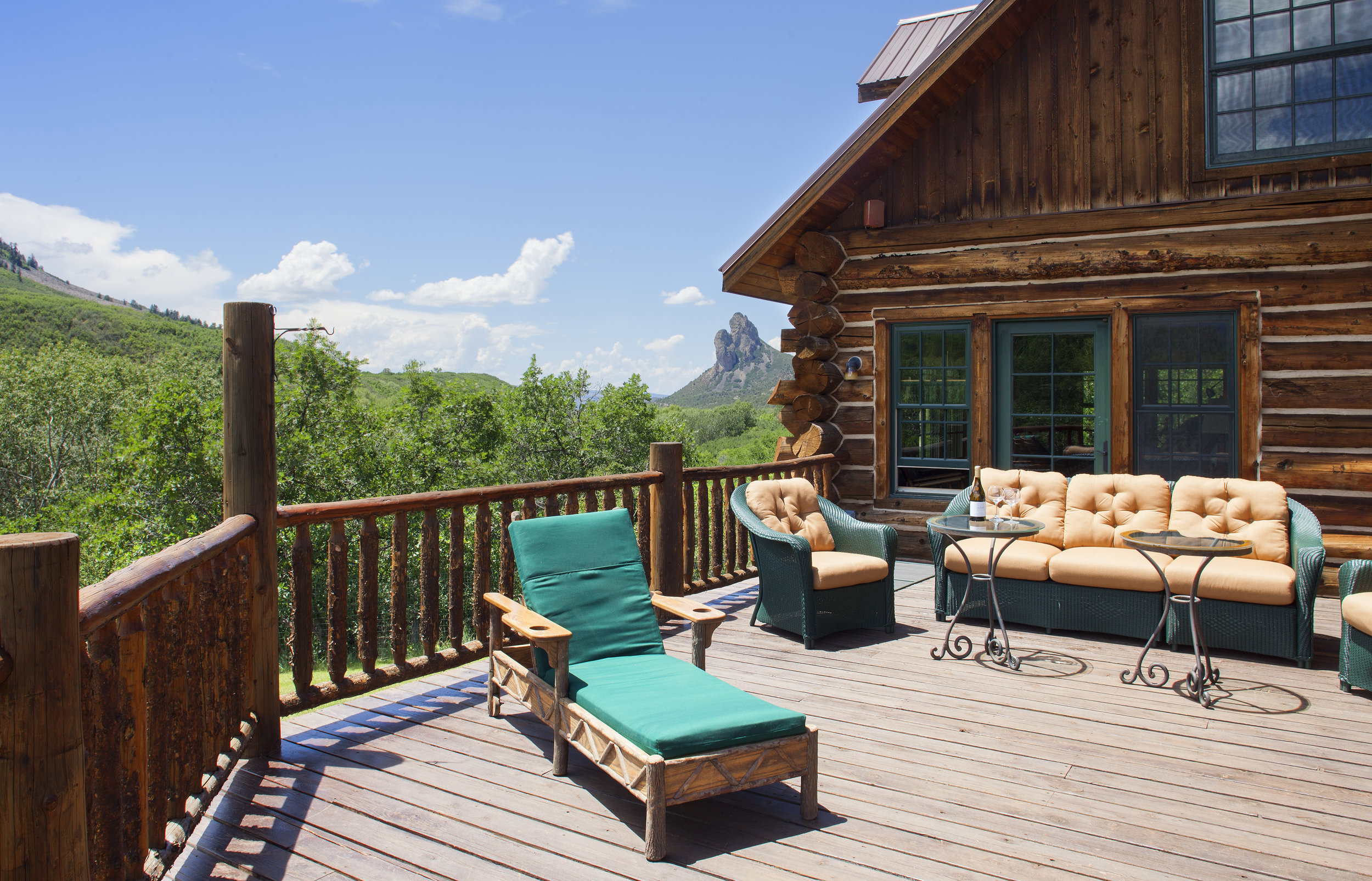 Hill House Deck with Views of Needle Rock