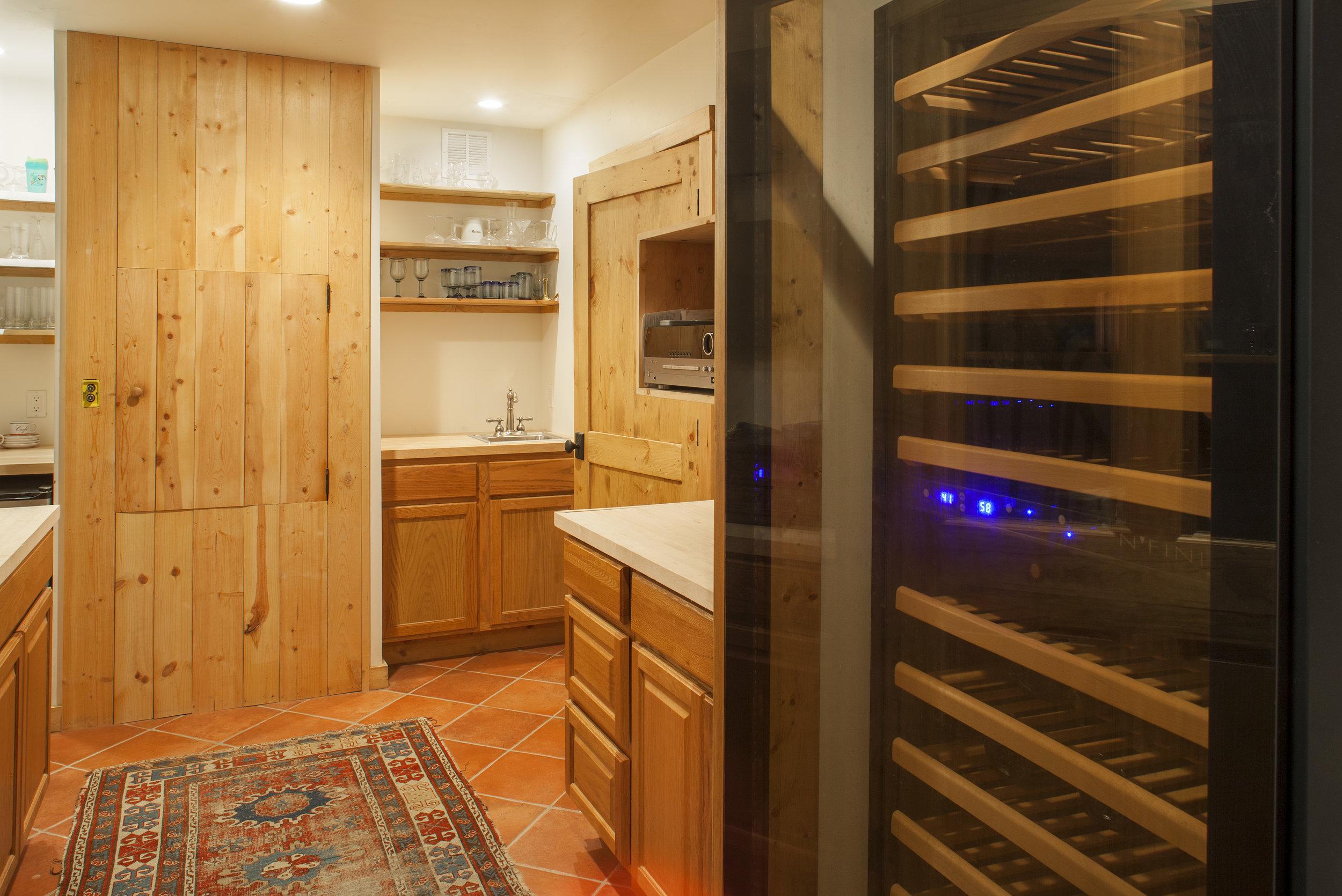 Wine Storage and Dumbwaiter