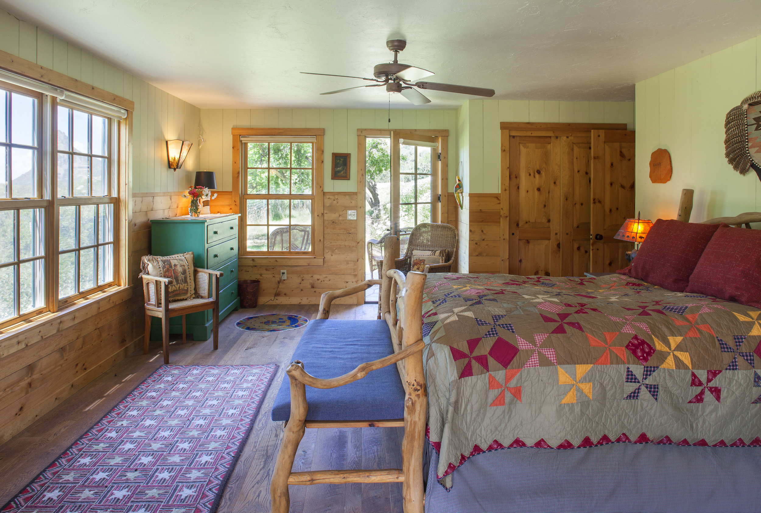 Guest Bedroom, One of Five Bedrooms in the Hill House