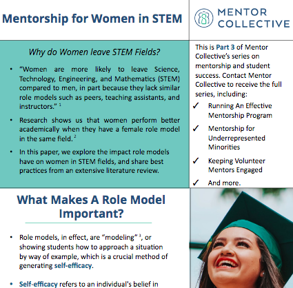Mentorship for Women in STEM - Learn how a role model in the form of a mentor can increase retention for women in STEM.Read more…