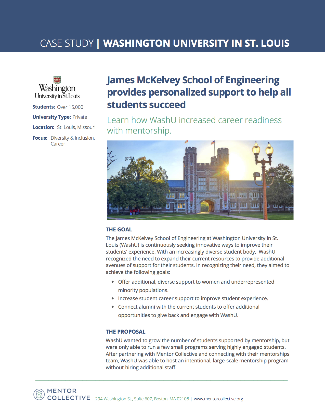 Case Study: Washington University in St. Louis - Learn how the James McKelvey School of Engineering at Washington University in St. Louis increased career readiness and alumni engagement with mentorship.