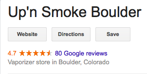 UP'N Smoke  - 1264 College Ave, Boulder, CO 80302