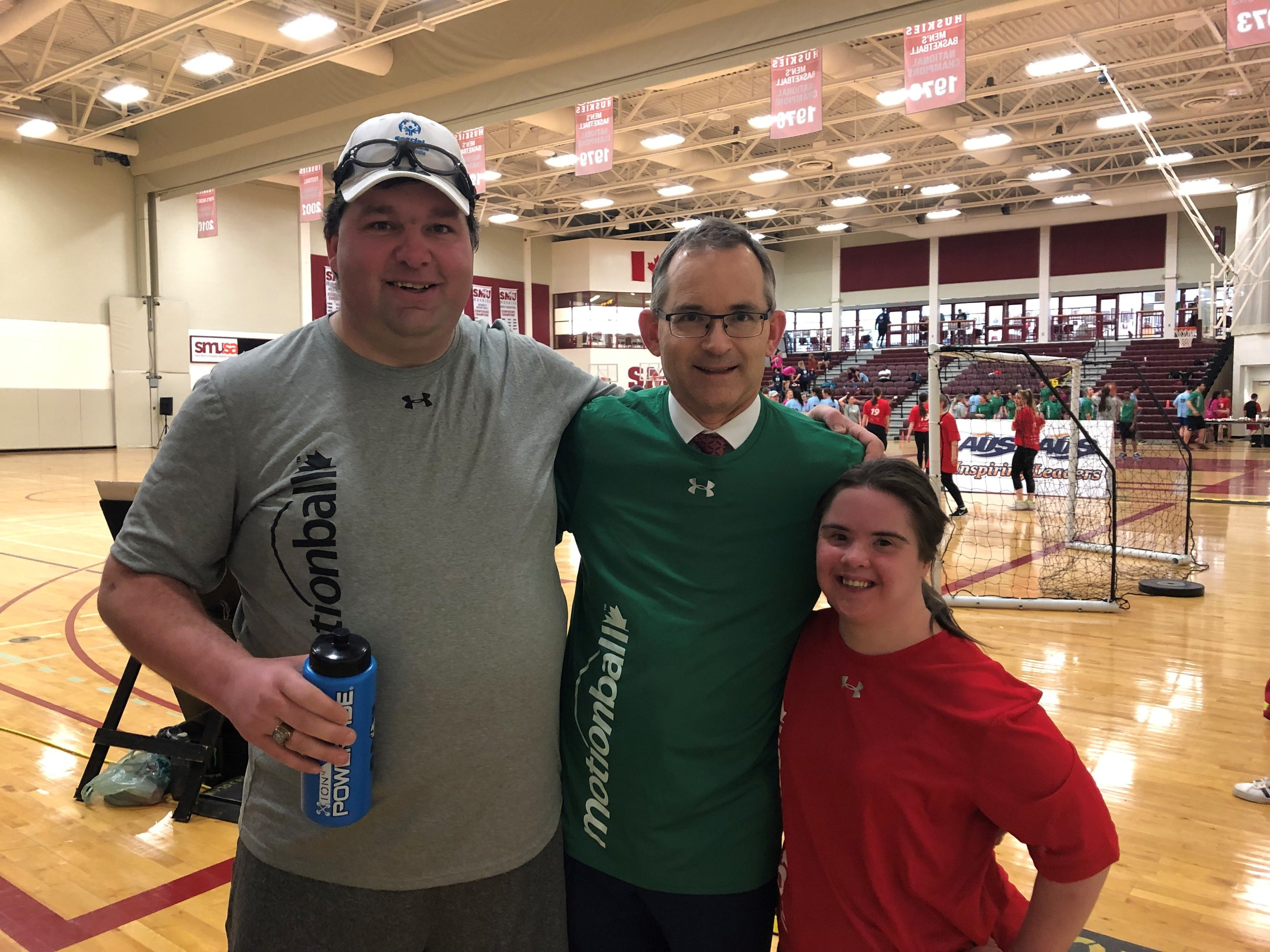 Rob Summerby-Murray met Special Olympics athletes Billy and Katie.