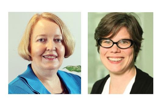 Above (l-r) : Dr. Daphne Rixon, Dr. Fiona Duguid