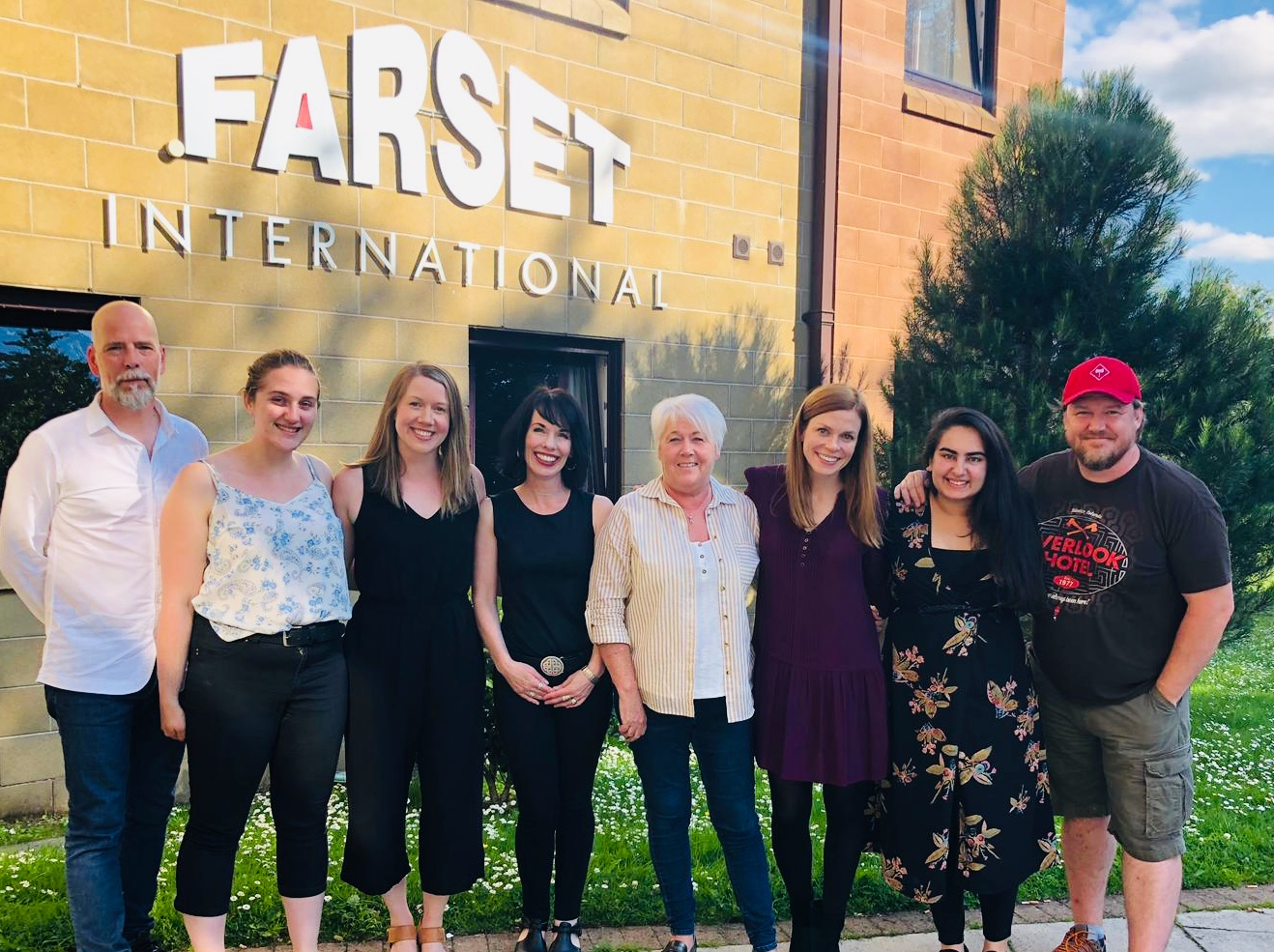 From left: Dr. Peter Twohig, Michaela Peters, Emily Anderson, Bridget Brownlow, Ruth Quigley of  FARSET International , Dr. Bonnie Weir, Hira Jafri and Dr. Ashley Carver.