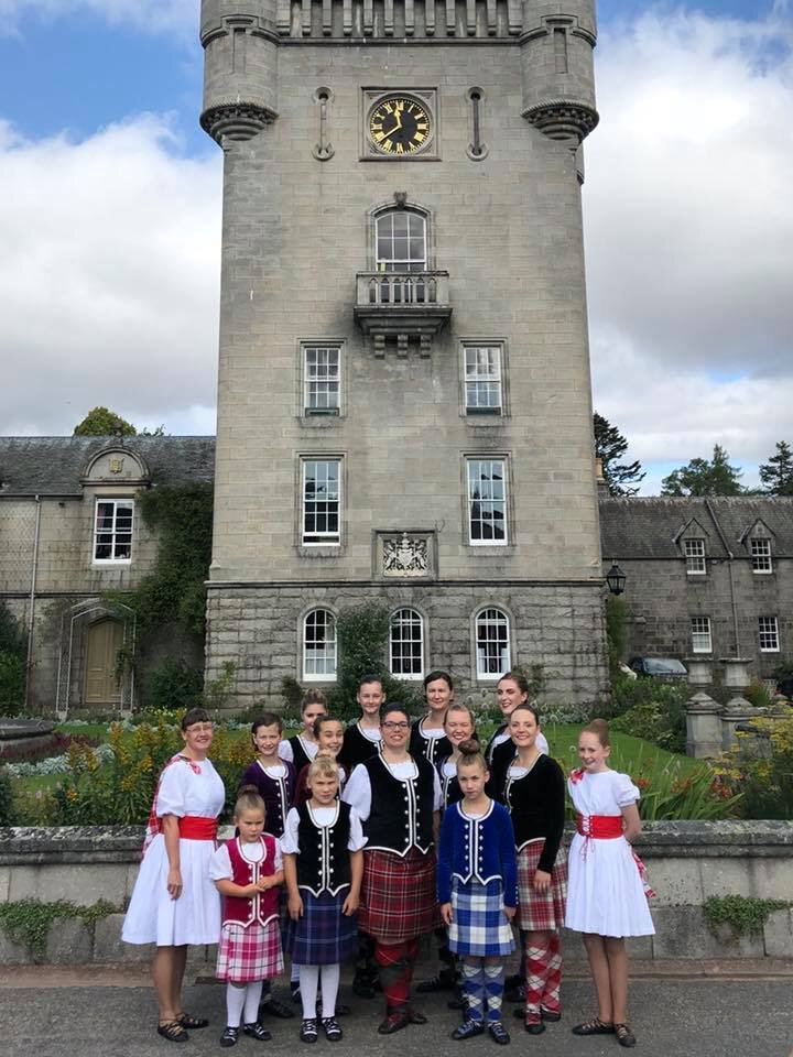 In Scotland in 2018 with her dance company, performing for the Queen at Balmoral Castle
