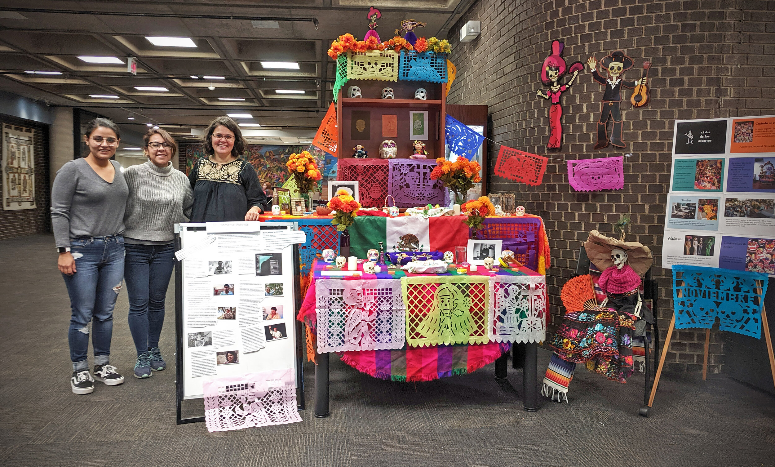 One of many International Education Week activities included The Day of the Dead community altar at the Patrick Power Library (Oct 29 - Nov 4), which celebrates the memory of departed loved ones and the continuity of life.